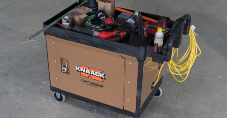 KNAACK Cart Armour features steel panels and doors