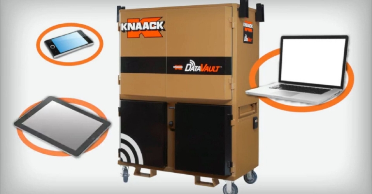 KNAACK DataVault allows you to sync various devices on the jobsite