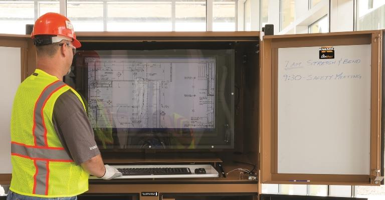 KNAACK DataVault has an on-board TV and multi-product adaptability