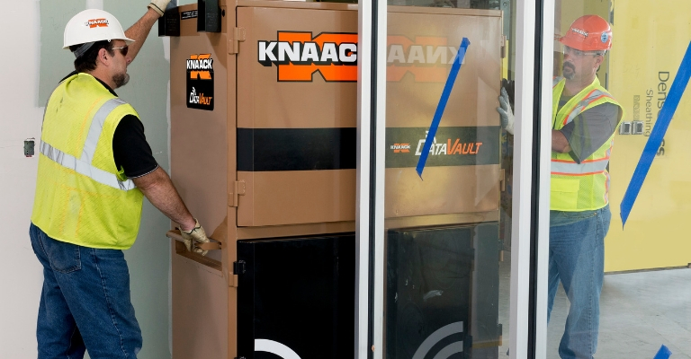 KNAACK DataVault is a mobile work environment for the jobsite