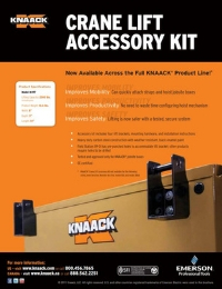 KNAACK Crane Lift Accessory Kit for Jobsite Storage Flyer