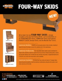 KNAACK Four-Way Skids Jobsite Storage Flyer